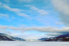 Vinter lakeliggande stora oklarheter Arkivfoto