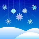 Vinter Lanscape Arkivfoton