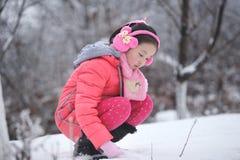 Vinter med ungar arkivfoto