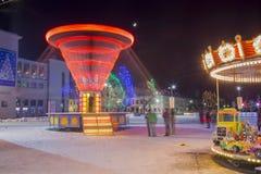 Vinter- och jultid i den Daugavpils staden Royaltyfri Bild