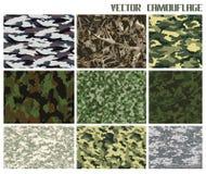 Vinter- och sommarkamouflageuppsättning Arkivbilder