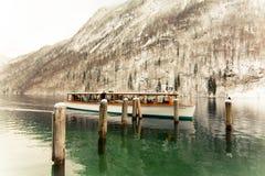 Vinter på berchtesgadenernationalparken Arkivbild