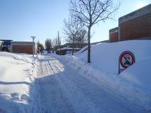 Vinter på det Aalborg universitetet i Danmark Fotografering för Bildbyråer