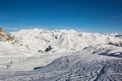 Vinter på glaciären Royaltyfri Fotografi