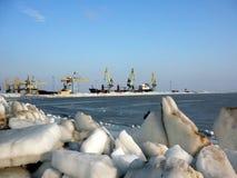 Vinter på havet av Azov Royaltyfri Fotografi