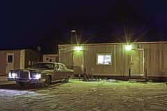 Vinter på nätterna HDR Fotografering för Bildbyråer