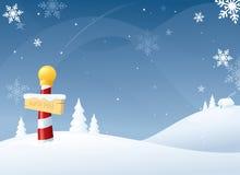 Vinter på nordpolen royaltyfri illustrationer