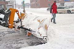 Vinter på townen. royaltyfria bilder