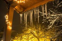 Vinter på Trikala Korinthias, Peloponnese, Grekland Royaltyfri Foto