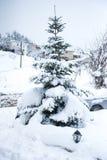Vinter på Trikala Korinthias, Peloponnese, Grekland Fotografering för Bildbyråer