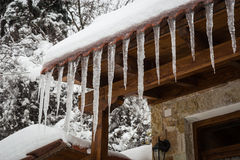 Vinter på Trikala Korinthias, Peloponnese, Grekland Royaltyfria Foton