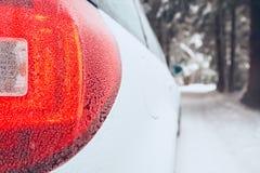 Vinter på vägen royaltyfri bild