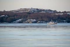Vinter på västkusten av Sverige Arkivbild