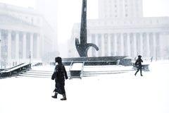 Vinter på Wall Street royaltyfria bilder