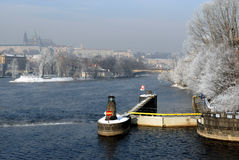 Vinter Prague Royaltyfri Fotografi