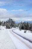 Vinter road Stock Image