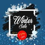 Vinter Sale upp till 75% AV vektorbild Fotografering för Bildbyråer