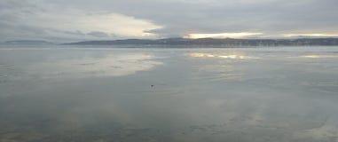 Vinter sjö 3 arkivbild