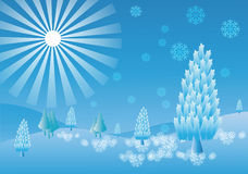 vinter snöflingor Bakgrund Royaltyfria Foton