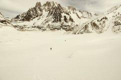 Vinter som trekking i fjällängar Royaltyfri Bild