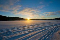 Vinter Sunsise Royaltyfri Fotografi