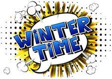 Vinter Tid - humorbokstilord vektor illustrationer