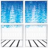 Vinter till och med ett fönster Arkivbild