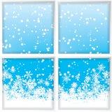 Vinter till och med ett fönster Royaltyfri Foto