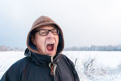 Vinter-trötthet arkivfoto