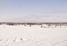 Vinter village Stock Image
