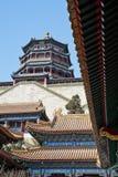 vinter yi yuan för sommar för beijing porslinslott Royaltyfri Foto