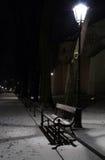 Vinterafton i Planty - Krakow Royaltyfri Fotografi