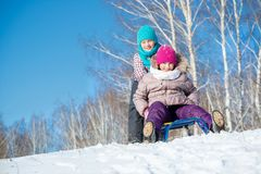 Vinteraktivitet Arkivbilder