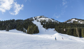 Vinteraktiviteter i Crystal Mountain Ski Resort Royaltyfri Bild