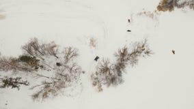 Vinterav-väg springa arkivfilmer
