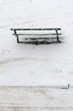 Vinterbänk. Royaltyfri Fotografi