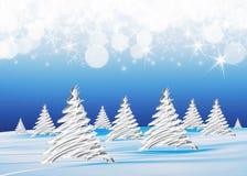 Vinterbakgrund Arkivfoton