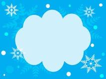 Vinterbakgrund för att skriva text Arkivbild