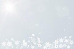 Vinterbakgrund för julvykort Arkivbild