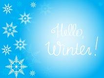 Vinterbakgrund för text Arkivfoton