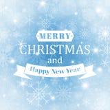 Vinterbakgrund med härliga olika snöflingor blå vinter för abstrakt bakgrund lyckligt nytt år för jul Arkivfoto