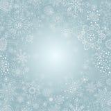 Vinterbakgrund med snöflingaillustrationen Arkivbilder
