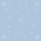 Vinterbakgrund på blått Royaltyfria Bilder