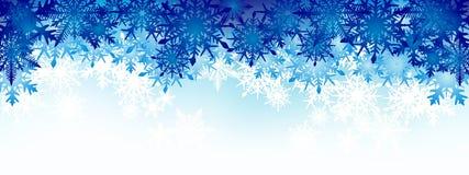 Vinterbakgrund, snöflingor - vektorillustration