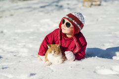 Vinterbarn Arkivbild