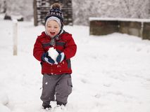 Vinterbarn Royaltyfri Fotografi