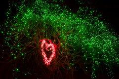 Vinterbelysning i en parkera Royaltyfri Bild
