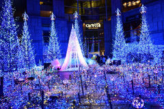 Vinterbelysning i Japan Arkivbilder