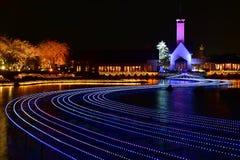 Vinterbelysning i Mie, Japan Arkivbilder