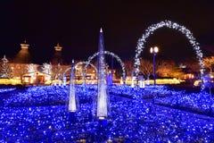 Vinterbelysning i Mie, Japan Fotografering för Bildbyråer